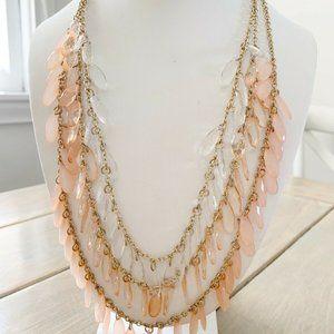 Vintage VCLM Signed Victorian Gold Pink necklace